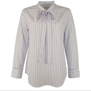 Michael Kors Women's Striped Neck Tie Blouse 👔